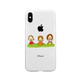 はずむヒト Soft clear smartphone cases