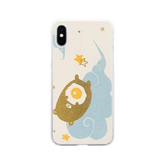 みんなで目玉焼きの夢をみよう(縦) Soft Clear Smartphone Case
