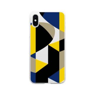 ソフトクリア スマホケース/f_004(トリミングシリーズ) Soft clear smartphone cases