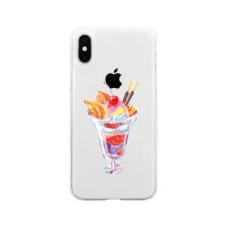 パフェ Soft clear smartphone cases