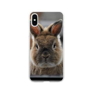 父ちゃん真顔 Soft Clear Smartphone Case