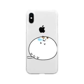 肉玉にゃんこ Soft clear smartphone cases