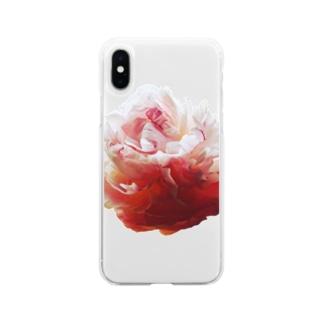 牡丹 Soft clear smartphone cases