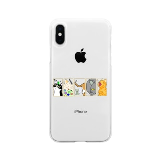 CAT×5 Soft clear smartphone cases