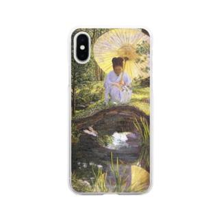 リラ・キャボット・ペリー 《日本庭園で》 Soft Clear Smartphone Case