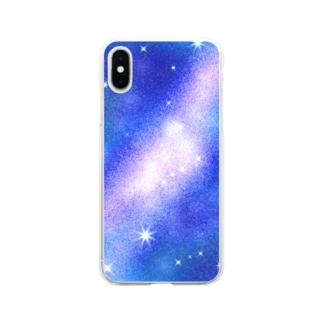 milky way Soft clear smartphone cases