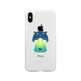 メンダコUFO 回収中. Soft Clear Smartphone Case