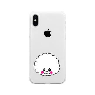 ふわふわアフロちゃん Soft Clear Smartphone Case