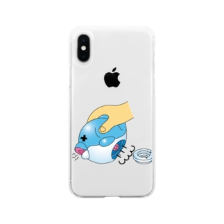 おふろでどうぶつボール(開腹) スマホケース  Soft clear smartphone cases