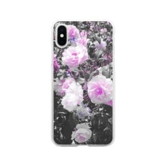 薔薇 Soft clear smartphone cases