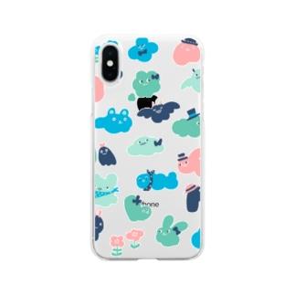 もくもくお化けたち Soft clear smartphone cases