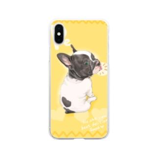 フレンチブル ぺ Soft clear smartphone cases