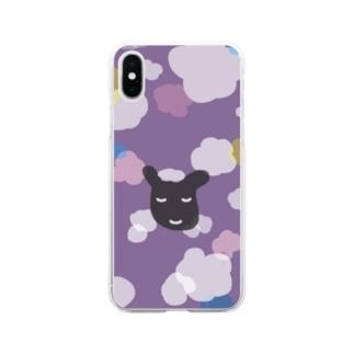 くろひつじ おとなあじ Soft clear smartphone cases