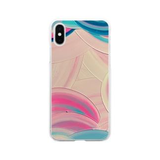 べにあざみ Soft clear smartphone cases
