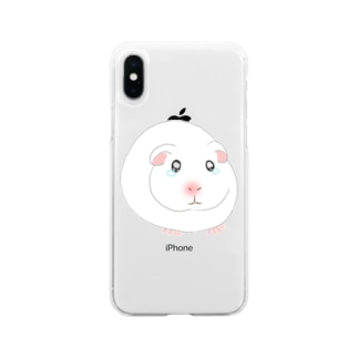 泣き虫モルモット Soft Clear Smartphone Case
