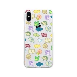 ドット古生物 Soft Clear Smartphone Case