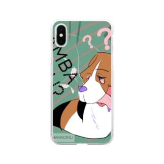 がんばらない 犬 Soft Clear Smartphone Case