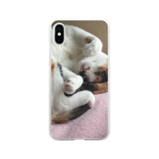 愛猫モモ Soft Clear Smartphone Case