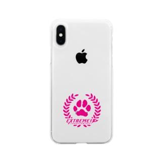 ドッグライフプランはしもとのドッグスポーツ・エクストリーム ロゴ(丸形) Soft Clear Smartphone Case
