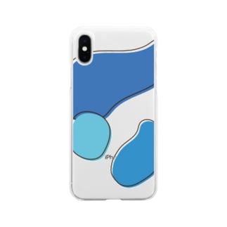 トリコロール ネモフィラ Soft Clear Smartphone Case
