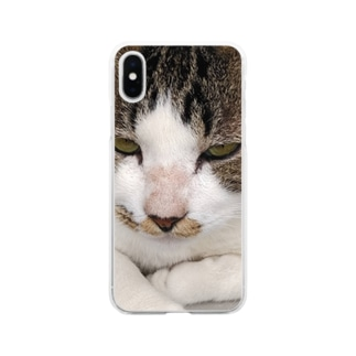 外猫サバたん Soft Clear Smartphone Case