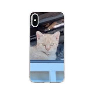 サバたんとむぎたん Soft Clear Smartphone Case