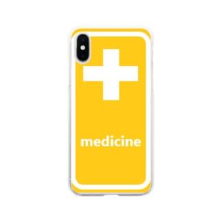 薬 medicine 💊 Soft Clear Smartphone Case