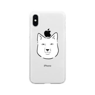 Oshiboriのチベットスナギツネ Soft clear smartphone cases
