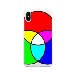 光の三原色 Soft clear smartphone cases