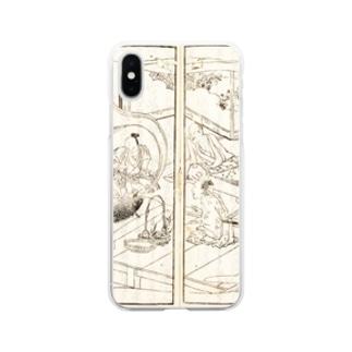 夢応の鯉魚(裏写り低減版)L Soft clear smartphone cases