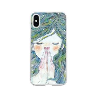 祈り Soft clear smartphone cases