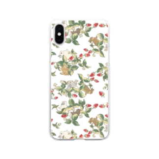 Strawberry fields bunnies Soft clear smartphone cases