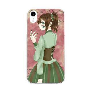 咲樹 Soft clear smartphone cases