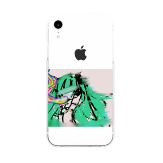 neruyomeのhatunemerutodaun Soft clear smartphone cases