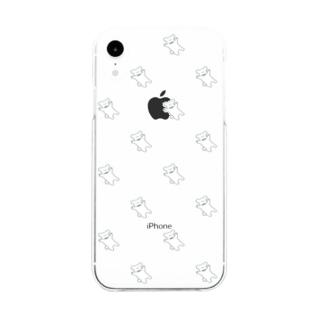 ふわふわトイプードル2 Soft clear smartphone cases