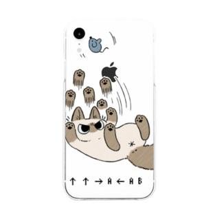 ニャババあずきさん Soft clear smartphone cases