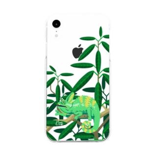 エボシカメレオン Soft clear smartphone cases