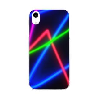 ネオン系スマートフォンカバー Soft clear smartphone cases
