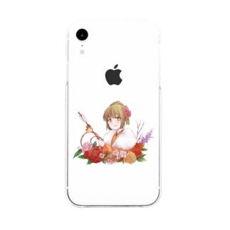 着物美人 『冬』 スマホケース Soft clear smartphone cases