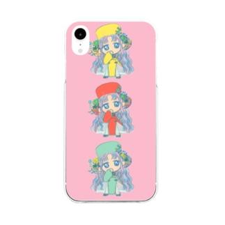 チャイナ服の女の子 Soft clear smartphone cases