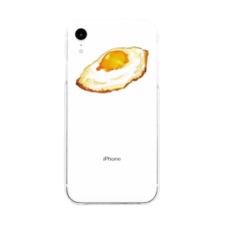 yoakemaeの目玉焼き Soft clear smartphone cases