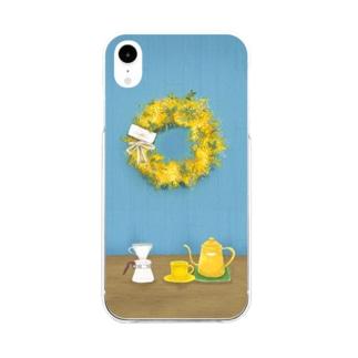 ミモザリースのあるお部屋 Soft clear smartphone cases