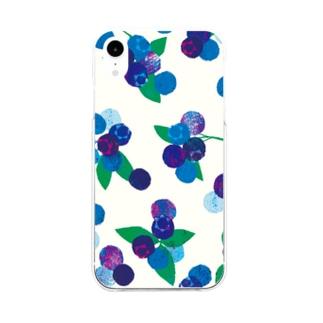 旬果・ BLUEBERRY Soft clear smartphone cases