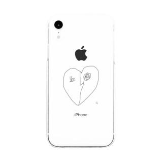 ハートアンドハート Soft clear smartphone cases