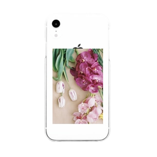 harucamera お花 Soft clear smartphone cases