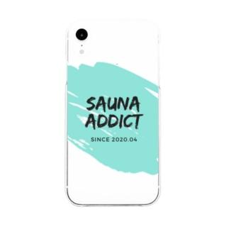SAUNA ADDICT オリジナルスマホケース Soft clear smartphone cases