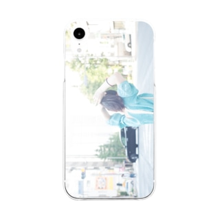 harucamera ポニーテール Soft clear smartphone cases