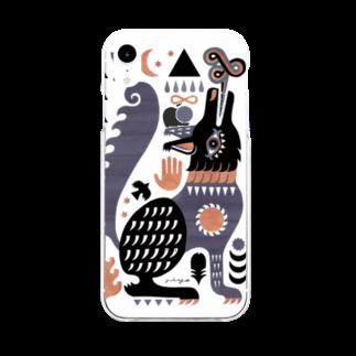 riya のBLACK WOLF Soft clear smartphone cases