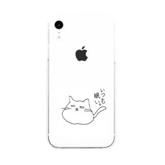 ゆるどろ猫 Soft clear smartphone cases