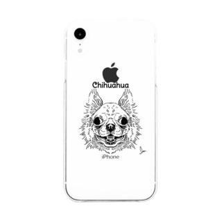 チワーワ Soft clear smartphone cases